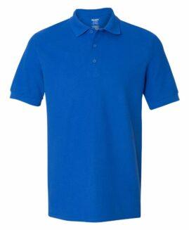 Tricou pique polo bumbac premium  Albastru  2 XL GILDAN USA