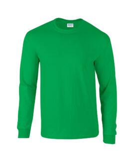 Tricou bumbac mineca lunga Verde Deschis 2 XL   GILDAN USA
