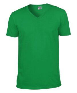 Tricou unisex bumbac softstyle,  anchior mineca scurta, xxl american, GILDAN verde irish