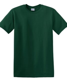 Tricou marime mare, heavy cotton, mineca scurta, Verde forest, 2 XL GILDAN USA