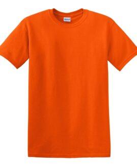 Tricou marime mare, heavy cotton, mineca scurta, Portocaliu, 2 XL GILDAN USA