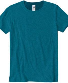 Tricou marime mare, bumbac softstyle, mineca scurta, Antique Sapphire 2 XL GILDAN USA