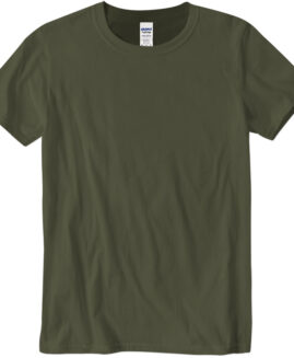 Tricou marime mare, bumbac softstyle, mineca scurta, Army 2 XL  GILDAN USA
