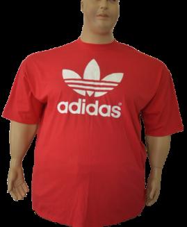 Tricou foarte mare , bumbac mineca scurta ,  6 xl american , rosu , logo ADIDAS
