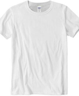 Tricou marime mare, bumbac softstyle, mineca scurta, Alb 2 XL  GILDAN USA
