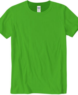 Tricou marime mare, bumbac softstyle, mineca scurta, verde lime, 2 XL  GILDAN USA