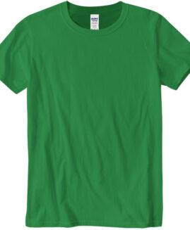 Tricou marime mare, bumbac softstyle, mineca scurta, verde 2 XL  GILDAN USA