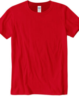 Tricou marime mare, bumbac softstyle, mineca scurta, Rosu 2 XL  GILDAN USA