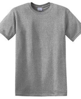 Tricou marime mare, heavy cotton, mineca scurta, Gri deschis, 2 XL GILDAN USA