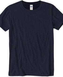 Tricou unisex marime mare, bumbac softstyle, mineca scurta, Navy 2 XL  GILDAN USA