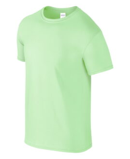 Tricou marime mare, bumbac softstyle, mineca scurta, verde mint, 2 XL  GILDAN USA