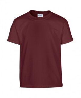 Tricou marime mare, heavy cotton, mineca scurta, Maro, 2 XL GILDAN USA