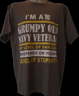 Tricou marime mare, tricou bumbac ring spun, marime xxl american, GRUMPY OLD NAVY VETERAN