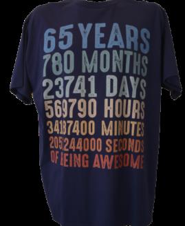 Tricou marime mare, tricou bumbac ring spun, marime xxl american, 65 YEARS