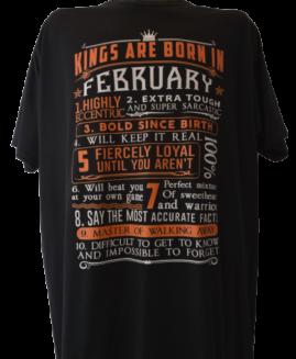 Tricou marime mare, tricou bumbac ring spun, marime xxxl american, BORN IN FEBRUARY