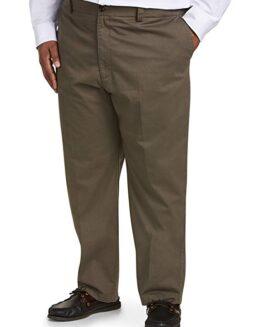 Pantalon marime mare, model drept clasic, marime 46×30 american, BASIC EDITIONS kaki