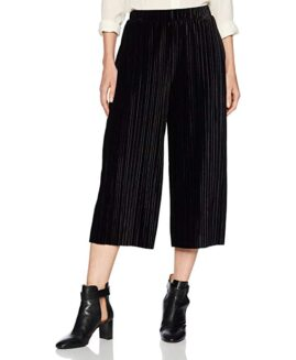 Pantalon femei marime mare, plisati gaucho capri, xxl american, JACLYN SMITH navy - talie 160 cm