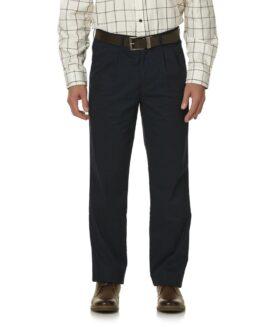 Pantalon marime mare, model drept clasic, marime 48x30  american, BASIC EDITIONS navy - talie 130 cm