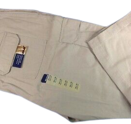 Pantalon marime mare bumbac, cargo pants 50x29 american, BASIC EDITIONS Crem