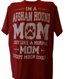 Tricou cu imprimeu marime mare, bumbac ring spun, xxl american, AFGAN HOUND MOM
