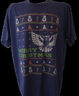 Tricou cu imprimeu marime mare, bumbac ring spun, xxl american, MERRY CHRISTMAS