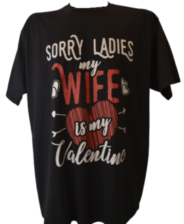 Tricou cu imprimeu marime mare, bumbac ring spun, xxl american, SORRY LADIES