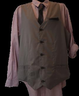 Set camasa ajustabila + vesta + cravata, xxxxl american, TRANQUILITY MAYHEM roz