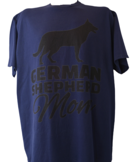 Tricou cu imprimeu marime mare, bumbac ring spun, xxl american, GERMAN SHEPHERD MOM
