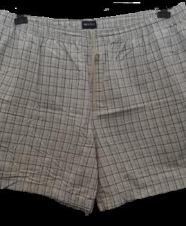 Pantalon scurt marime mare, talie elastica 100% bumbac, marime xxxl american, PURITAN carouri