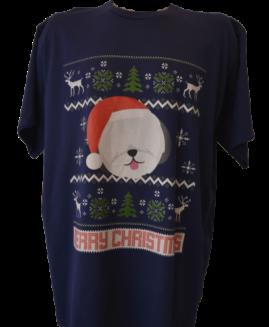 Tricou cu imprimeu marime mare, bumbac ring spun, xxxl american, MERRY CHRISTMAS