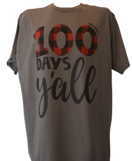 Tricou cu imprimeu marime mare, bumbac ring spun, xxl american, 100 DAYS JAILL