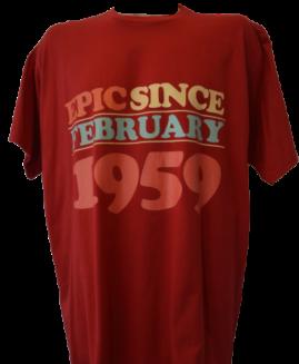 Tricou cu imprimeu marime mare, bumbac ring spun, xxl american, EPIC SINCE FEBRUARY 1959