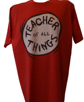 Tricou cu imprimeu marime mare, bumbac ring spun, xxl american, TEACHER OF ALL THINGS