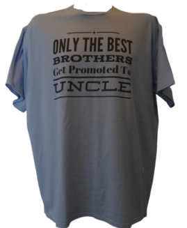 Tricou cu imprimeu marime mare, bumbac ring spun, xxl american, ONLY THE BEST BROTHERS