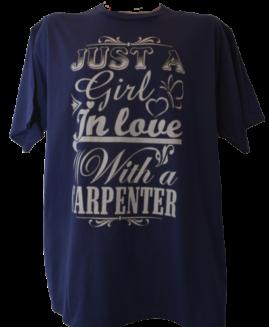 Tricou cu imprimeu marime mare, bumbac ring spun, xxl american, JUST A GIRL IN LOVE