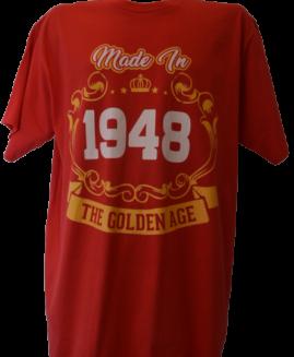 Tricou cu imprimeu marime mare, bumbac ring spun, xxl american, MADE IN 1948