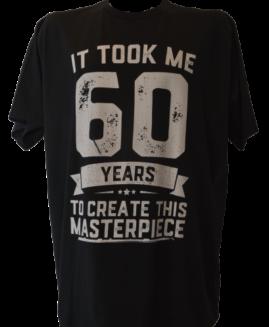 Tricou cu imprimeu marime mare, bumbac ring spun, xxl american,  60  YEARS