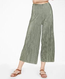 Pantalon femei marime foarte mare, plisati gaucho capri, xxxl american, JACLYN SMITH olive