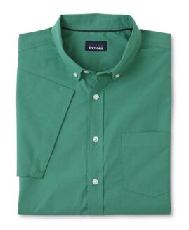 Camasa marime mare , bumbac mineca scurta, xxxxxl american, BASIC EDITIONS Verde