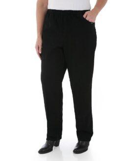 Pantalon  femei marime mare, jeans talie elastica, xxl american, CHIC negru