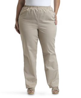 Pantalon stretch marime foarte mare femei, xxxl american, BASIC EDITIONS Bej