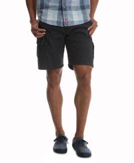 Wrangler pantaloni elastici, scurt cargo, marime mare americana 50, Gri inchis