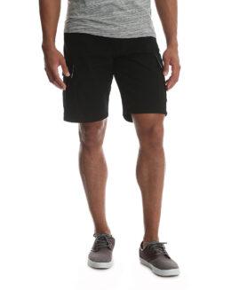 Wrangler pantaloni elastici, scurt cargo, marime mare americana 48, Negru