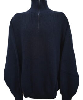 Pulover marime mare, gros tricotat cu fermoar 3/4, xxxxl american, SAFETY & MORE