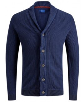 Cardigan guler inalt si nasturi, 7 xl american, JACK & JONES ORIGINALS