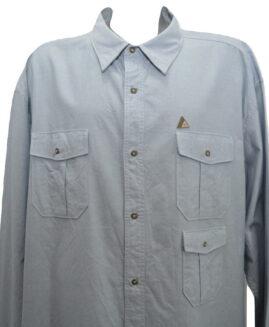 Camasa jeans subtire marime mare, bumbac mineca lunga, xxxxxl american, ROCAWEAR ORIGINALS