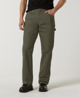 Pantalon marime mare 100% bumbac, tratat cu teflon, carpenter pants 48×29 american, DIE HARD kaki