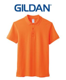 Tricou unisex, pique polo bumbac premium, xxl american, GILDAN USA portocaliu