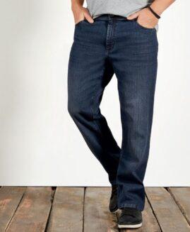 Pantalon jeans marime mare, talie joasa elastici, Livergy navy 62