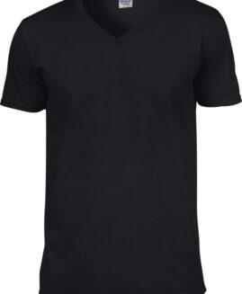 Tricou unisex bumbac softstyle, anchior mineca scurta, xxl american, GILDAN negru